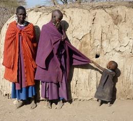 Masai mum keeps her cool ...
