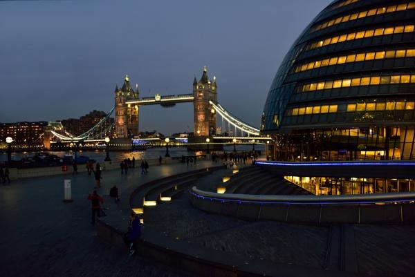 City Hall & Tower Bridge, London by ZygoBlue
