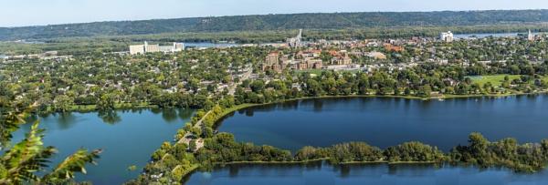 Winona Minnesota from the Bluffs by ShotfromaCanon