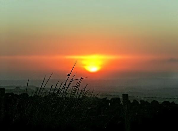 Sunset on the Slopes of Slemish by barn yard