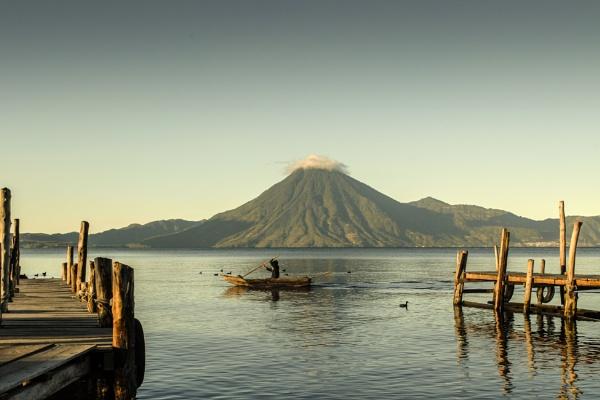 Fisherman on the lake by JuanCarlos