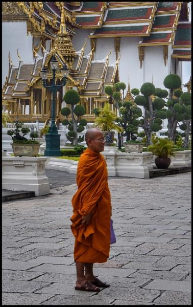 Buddhist monk by ColleenA