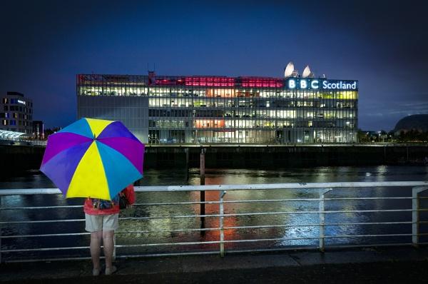 BBC Scotland.........on a rainy night by Tobytoes