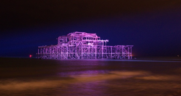 West Pier alight! by alfpics