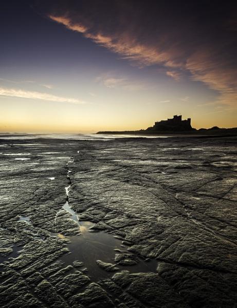 Bamburgh Castle at Dawn by RodIreland