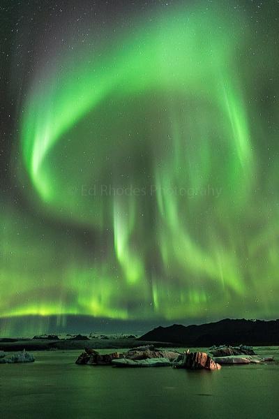 Jokulsarlon Aurora by edrhodes