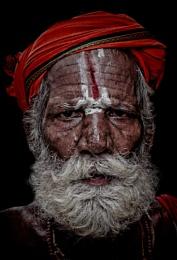Hindu pilgrim in Pushkar Rajasthan
