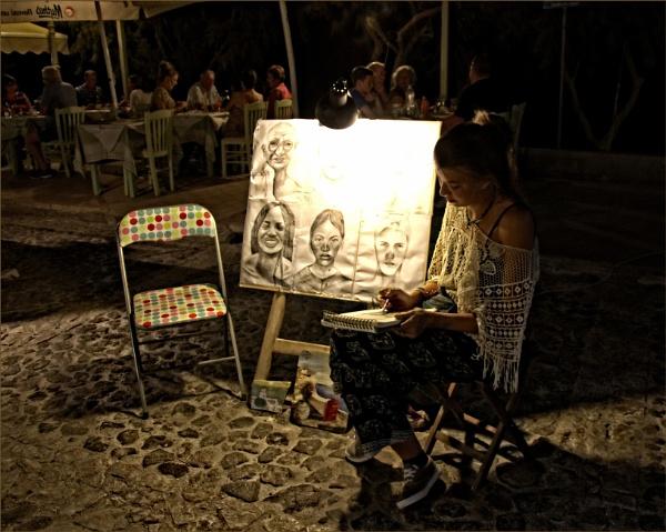 Santorini Artist by sweetpea62