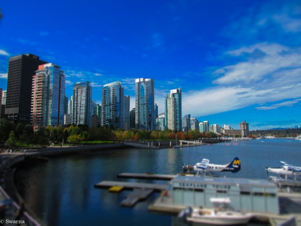 Vancouver Skyline from Coal Harbour by Swarnadip