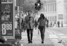 walk down the street