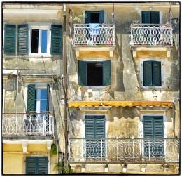Balconies In Old Corfu