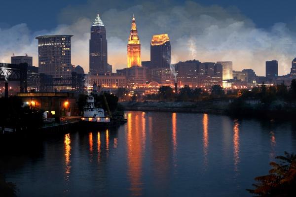 Cleveland Ohio skyline by bobdaveant