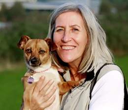 Julie and the pooch Portrait.
