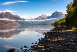 View of Lake McDonald in Montana