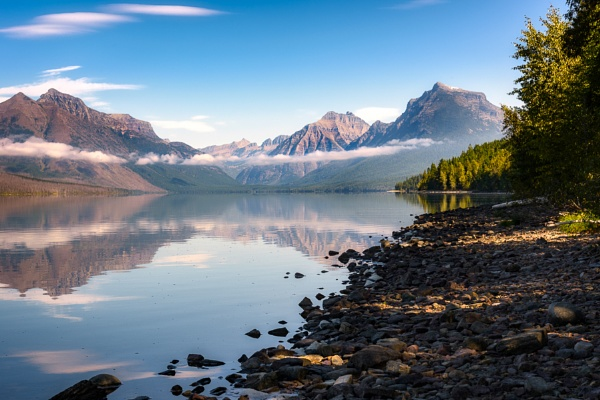 View of Lake McDonald in Montana by Phil_Bird