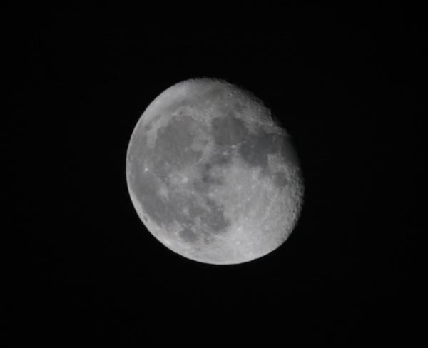 October Moon by barn yard