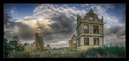 Pano of Morton Corbett Hall near Shrewsbury