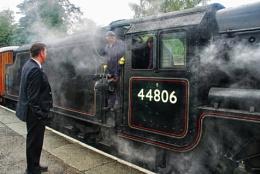 Changing Crew at Grosmont. N.Yorkshire Railway