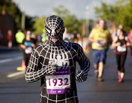 Spider-Man on the run
