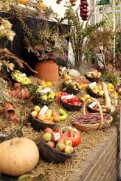 Harvest festival at Walmer Castle Kent.