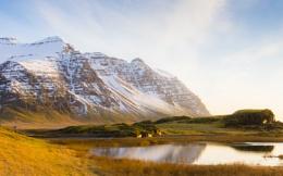 Morning Light on Steinafjall, Iceland