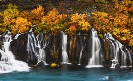 Autumn Falls, Hraunfossar, Iceland