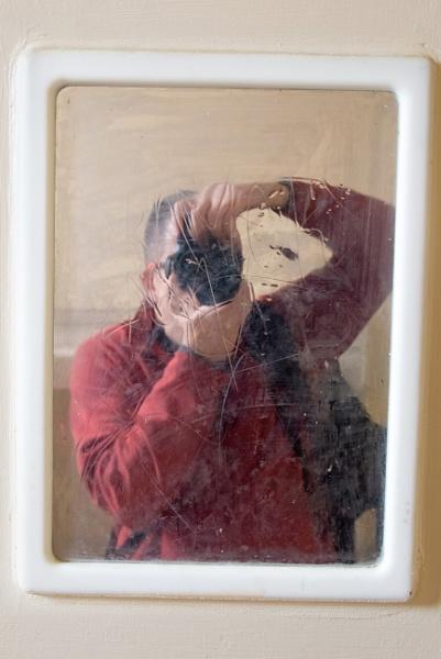 Self portrait, prison mirror by falsecast