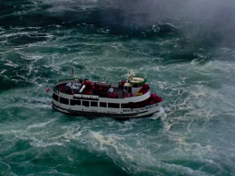 Take # 03 of the  Maid of the Mist in the spray of the  at Horseshoe Falls