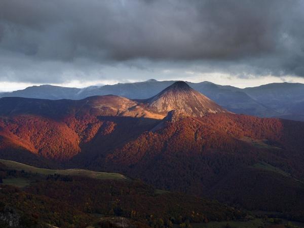 Autumn evening, Puy Griou, Massif Central, France by trailguru