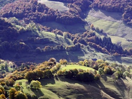 Autumn light in the Mandailles valley, Massif Central, France