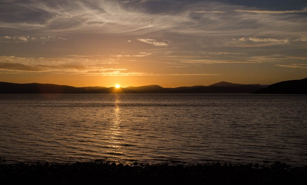 Sunset at Applecross by Pollyjc