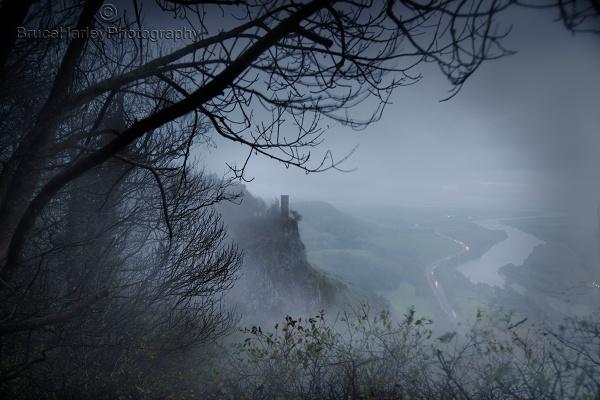 Kinnoull Tower in the Mist by MunroWalker