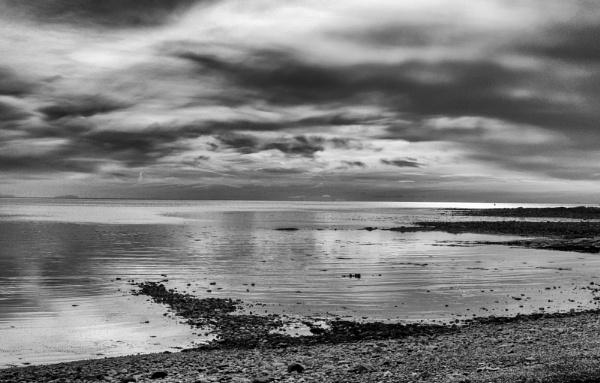 Garlieston Beach at dusk by Stiobhan