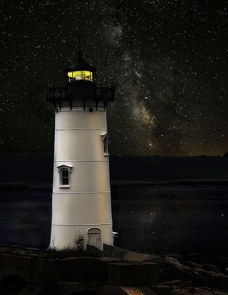 Portsmouth harbor light....late! by winger