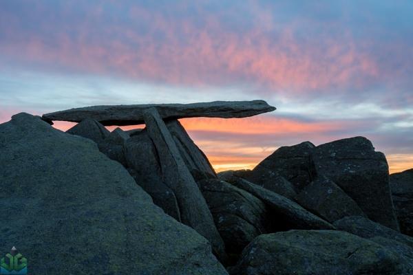 Cantilever Stone Sunrise by jamesgrant