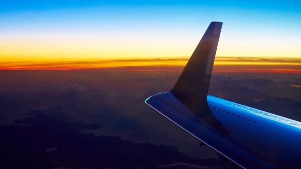 Sunset at 43,000 feet by betterworld