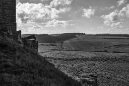 Photo : Dunstonborough Castle looking towards The Cheviot