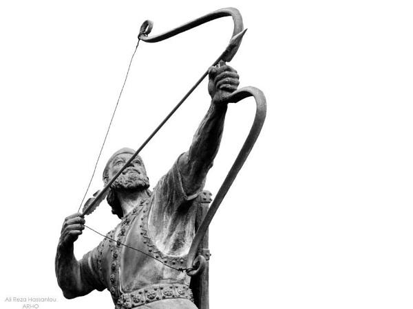 Statue of Arash by alirezahasanloo