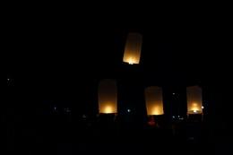 Khmer traditional lanterns firing