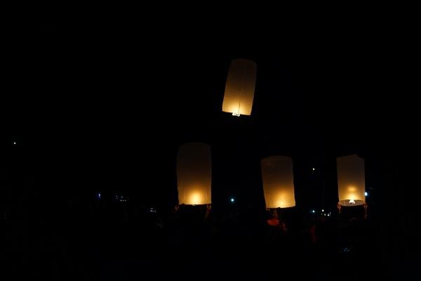 Khmer traditional lanterns firing by pitoukhmer
