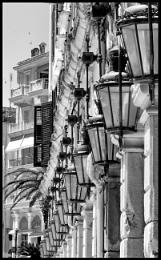 Street Lights In Old Corfu Town