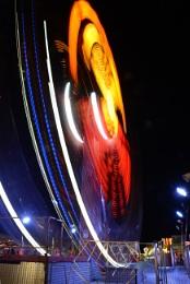 Funfair ride at night