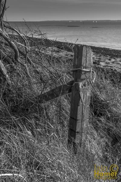 Fence and sea by IainHamer
