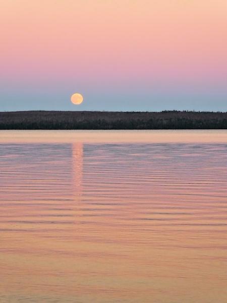 Moonrise, Sunset by Joline