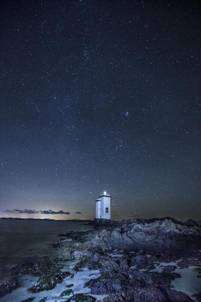 Carraig Fhada Lighthouse, Islay, Night time