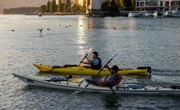 Kayaking - False Creek, Vancouver BC