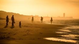 Silhouettes Sea Sun Set