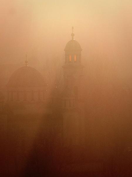 Church in fog by LaoCe
