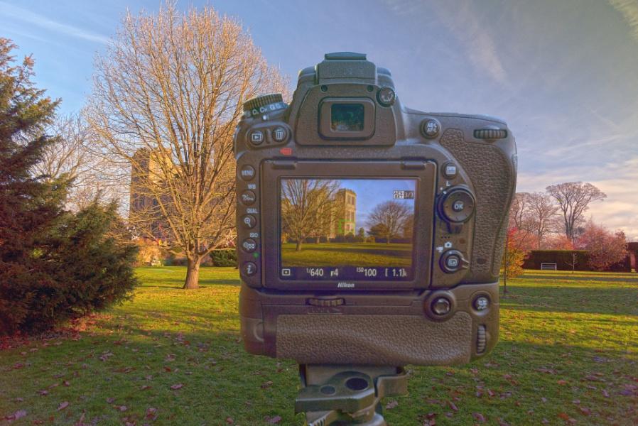 Taking Photo of Hardwick Hall