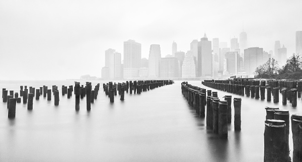 Manhattan Through The Mist by BydoR9